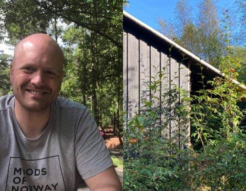 Olav Øystein Skadsheim (39) har store planer for den forfalne hytta.