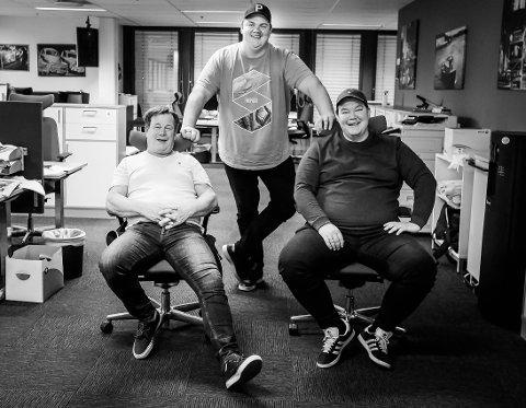 SA-PODDEN: Rino Løkkeberg, Patrick Walther Larsen og Jan-Håkon Dahlen i SA-podden.
