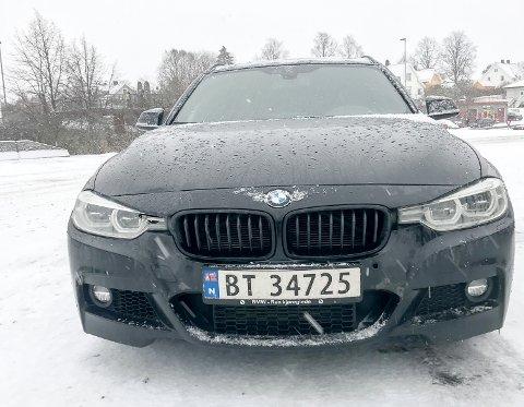 Påkjørt: Mia Kitters bil ble påkjørt fredag