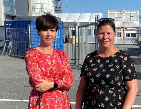 Høyre-politiker Janne Stangeland Rege og Venstre-politiker Anja Berggård Endresen er bekymret for smitteutviklingen.