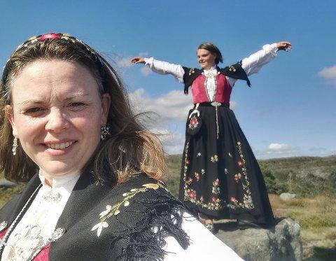 VINNERE: Torill Dale Alveberg og Anne Nordbø vinner hovedpremien i Hjelmeland for sine bilder fra Doreknuten.