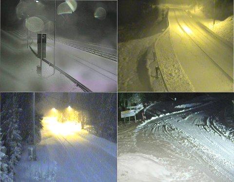 Foto: Skjermdump fra vegvesenets webkameraer (tatt ved 06-tiden, torsdag morgen)