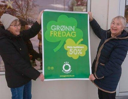 Det blir Gudrun Bele og Kjellrun Heggem som møter kundane på grøn fredag.