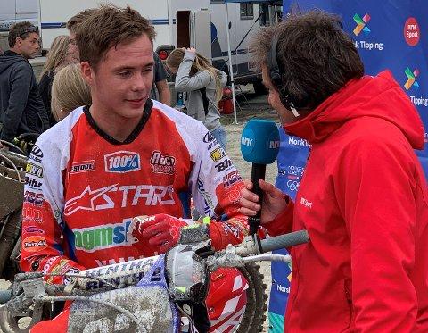 Råg Rindal kjørte til topps i den første runden av Midt-Norsk i motocross.