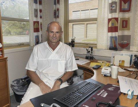 Svein Anders Grimstad er optimistisk med hensyn til koronasmitten i Sunndal.