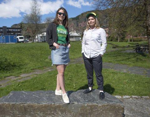 Bygdalarm ser dagens lys igjen etter ett års pause. Siste festival ble arrangert i Øystese. Någjenoppstår den karakteristiske festivalen i Norheimsund. Johanna Valland (til høyre) og Maria Pile Svåsand er henholdsvis frivilligtaus og pressetaus i Bygdalarm 2018.