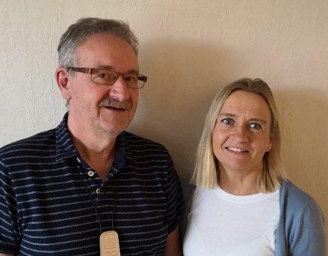 Werner Hansen, leder av styret for tekniske tjenester og nestleder Hilde Fagerhaug.