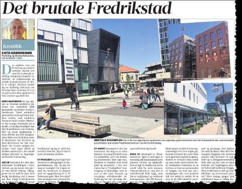 Psykolog Grønnerød har en noe teoretisk inngangsvinkel til faget arkitektur, hevder arkitekt Kennet Hald i svaret til denne kronikken i Fredriksstad Blad.