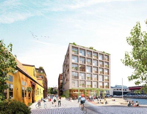 Prosjektet på Trosvikstranda rykker nærmere. – Vi ønsker å utvide sentrum bit for bit. I dag bråstopper jo sentrum ved Evjekaia, sier byutvikler Sander Grundvig.