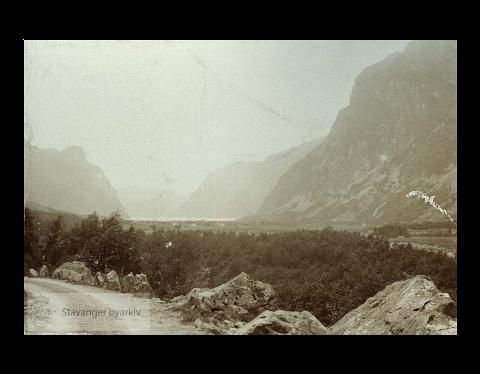 Dette bildet av landskapet i Frafjord er tatt i 1915, fire år før spanskesyken herjet i bygda.