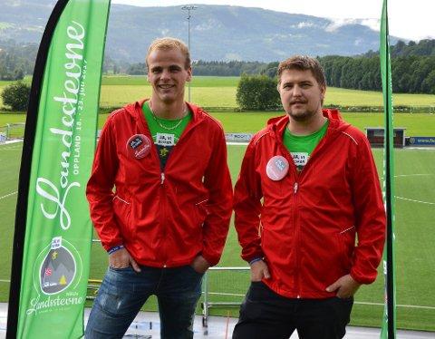 Håvard J. Lindgaard er leder fylkesleder i Oppland og Ola S. Venås er leder av Hovedkomiteen i Norges Bygdeungdomslag. Neste sommer skal de arrangere Landsstevne for bygdeungdommer på Jørstadmoen.