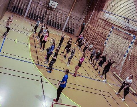 110 DELTAKERE: Aktivitetsdagen samlet 110 gymnaster fra 6-14 år.