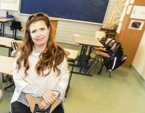 KREVENDE: Anita Gundrosen ved Gimle skole sier at elevenes rettigheter og krav går før økonomien.