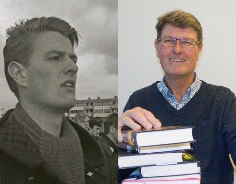 DELTE: Harald Østensjø i 1968 (tror han) og i 2020.