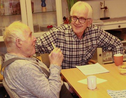 Ronny Skjager og Asbjørn  Svedal hadde mye å snakke om.