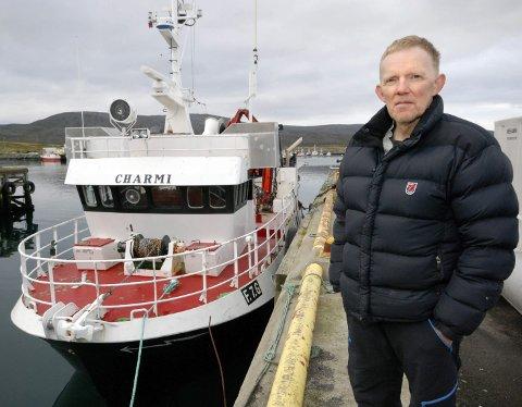 SKAL SELGES: Odd Arne Mikkelsen skulle veldig gjerne fortsatt å ro med «Charmi», men bivirkningene av kreftmedisinen umuliggjør dette. Derfor skal båt og kvote selges.