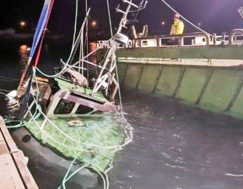 HER BLIR FISKEBÅTEN HEVET: Nå blir det igjen mulig for gjestebåter å benytte seg av gjestekaia i Bergsfjord.