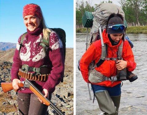 FRILUFTSLIV: Lena Romsdal Moe (25) og Vilde Kvalvik (24) er to av jentene i Finnmark som tilbringer mye tid ute i naturen.