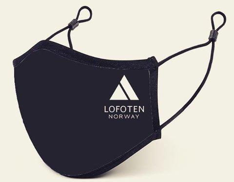 "SNØ Souvenirs på Ramberg har satt i gang produksjon av munnbind med påskriften ""Lofoten""."