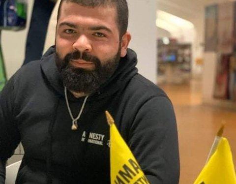 Ivar Abdulsamad Hasan (25) fra Syria er blitt leder i lokallaget til Amnesty International.