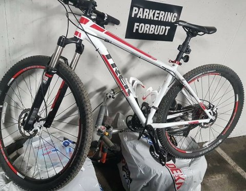 En av syklene som har blitt stjålet siste uken. Denne sto fastlåst og innestengt i en parkeringskjeller.
