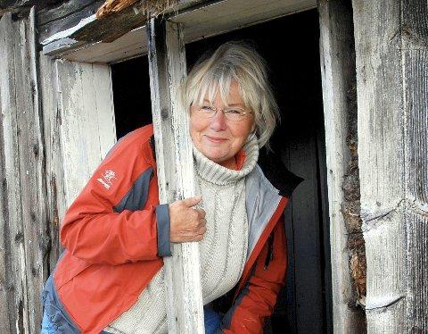 TIL MOSS: Else «Sprossa» Rønnevig har et unikt engasjement for å ta vare på gamle hus.  FOto: Irene Hegge Guttormsen