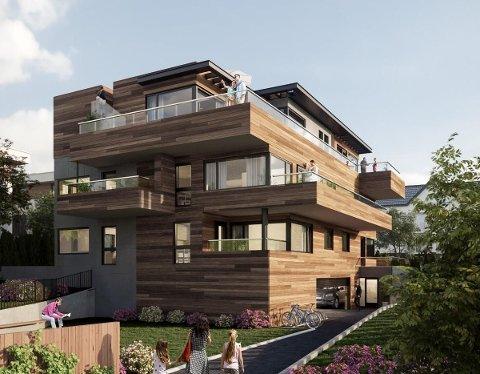 ÅTTE NYE LEILIGHETER: Seks av de åtte nye boligene som er ute for salg i Marienlundveien 3B er allerede solgt.