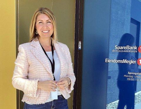 BANKSJEF: Ida Andberg har tatt over som lokalbanksjef for lokalkontoret i Moss for SpareBank 1 Østfold Akershus.