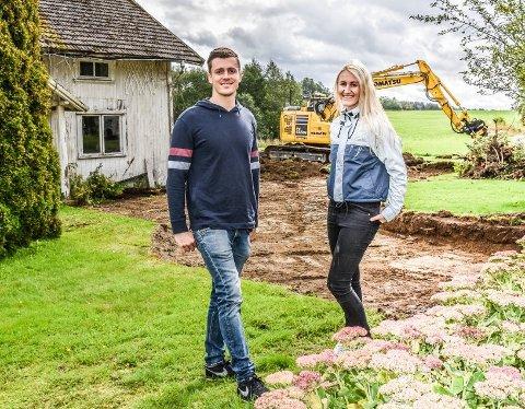 DRØMMEBOLIG: Øystein og Cindy Mortvedt legger alt de eier og har i drømmeboligen.