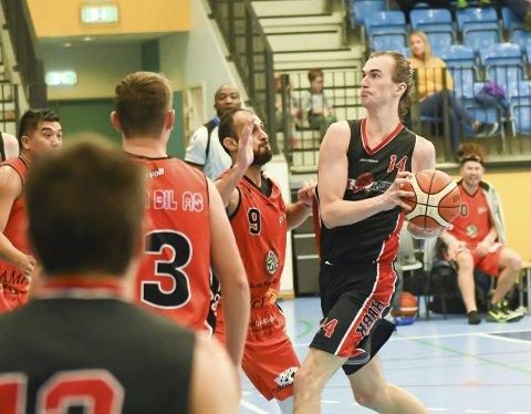 MÅTTE TÅLE TAP: Henry McCarthy og Hønefoss Basketballklubb imponerte tidvis mot Ammerud, men måtte likevel reise hjem uten poeng.