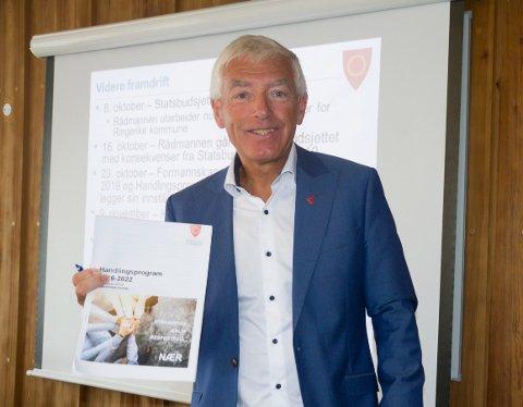 BUDSJETT: Rådmann Tore Isaksen understreker at det ikke er satt av penger i neste års budsjett for støtte til vikingskip på Steinsfjorden. Derfor anbefaler han å si nei til en søknad om støtte.