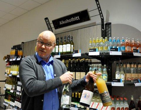 Favoritter: - Dette er produkter som erstatter alkoholholdig drikke til maten på en utmerket måte, sier Terje Hæhre Pedersen på Vinmonopolet.