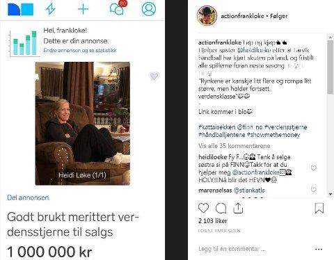 HUMORISTISK: Frank Løke har satt prislapp på håndballproff og søster Heidi Løke.