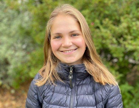 LANG FARTSTID: Gjendine Gjelstad Rebård (17) har drevet med orientering store deler av livet. Hun synes det er gøy å jakte på poster i skogen i kombinasjon med løping. Neste år skal hun kombinere orienteringssatsingen med høyere utdanning.