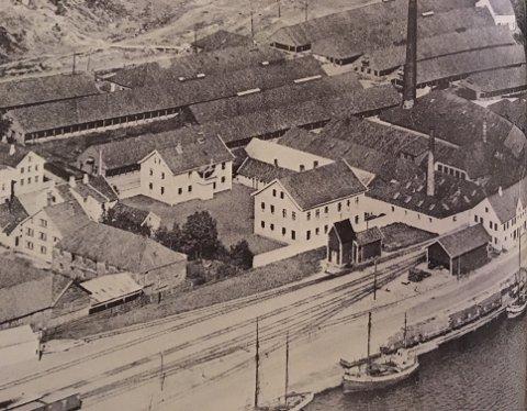 Skolebygningene og bloksene i Ganns (1930). (Lånt fra boka Sandnes – Fra trettiåra til i dag – Dreyer Bok)