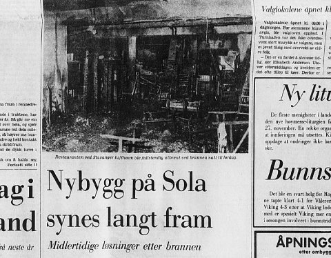 Et par dager etter brannen i restauranten på flyplassen i 1977 skrev Stavanger Aftenblad om at det nå passet fint å fornye terminalbygget