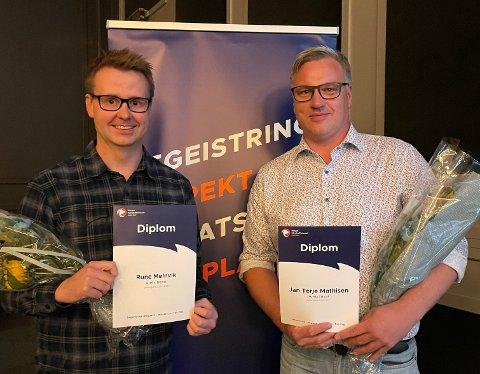 Rune Trapnes Mølnvik fikk prisen som Årets trener, og Jan Terje Mathisen ble Årets ildsjel under Håndballforum i Stjørdal i helga.