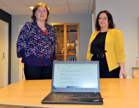 Ingrid Ovidie Rangønes (til venstre) og Berit Tønnesen ville få med seg landsmøtet for å  erstatte helseforetaksloven med en sykehuslov.
