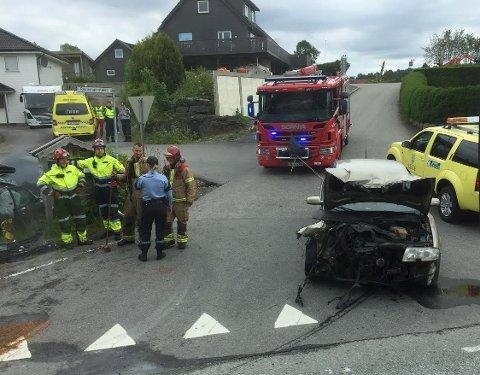 Frontkollisjon ved Ravnanger på Askøy.