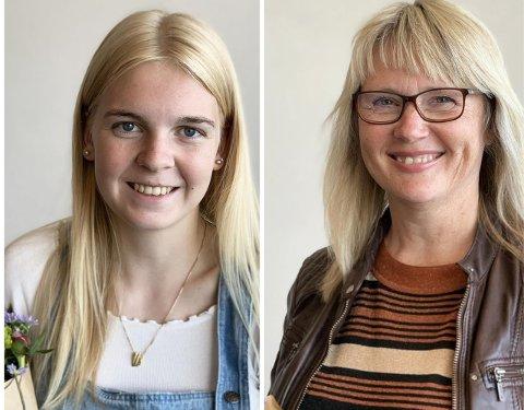 LOKALE STIPENDVINNARAR: Mathea Selebø frå Sokndal og Tone Myklebust frå Eigersund