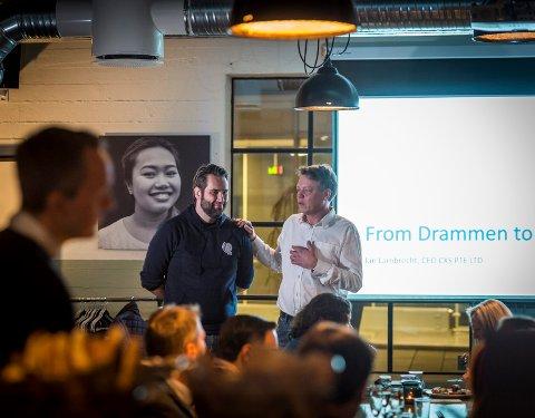 MALAYSIA: Sammen med blant andre Jan Lambrecht (til venstre) har Steinar Evensen startet opp CXS i Malaysia, et selskap som hjelper i gang oppstartsbedrifter, og som også er etablert i Drammen. Lambrecht er i disse dager i Mexico og forhandler med skolemyndighetene der.