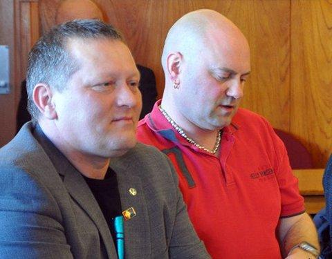 Tor Mikkola, varaordfører i Nordkapp og Hugo Salamonsen, leder i Nordkapp SP.