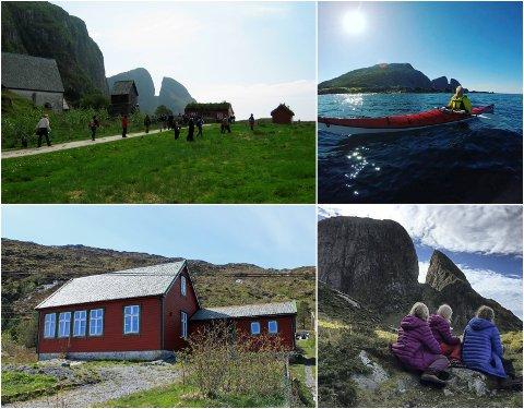 Turlagshytta på Kinn er eit godt utgangspunkt for fine natur og kulturopplevingar på øya som har gitt namn til den nye kommunen.