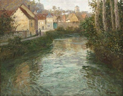 Lillehammermaleren Frits Thaulows maleri «Picquigny» ble nylig solgt for 1,1 mill. kroner på auksjon i Oslo.