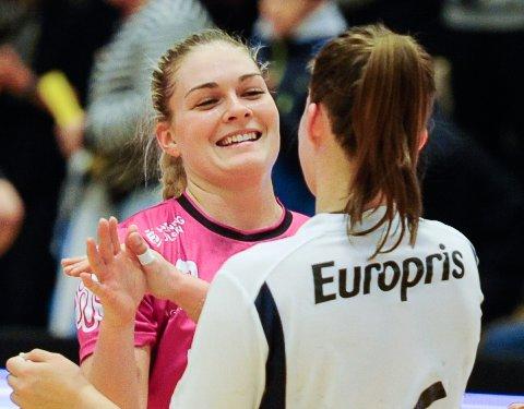 FORNØYD: Pernille Wang Skaug ble kåret til banens beste da Vipers slo Byåsen 30-25 tirsdag.