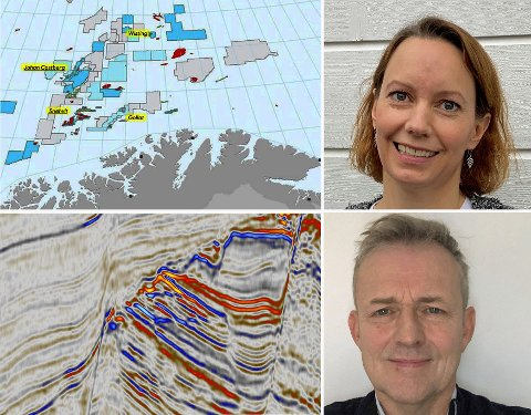 FORTSATT OPTIMIST: Camilla Aamodt som leder geologiarbeidet for Barentshavet, har tro på bedre treffprosent med ny teknologi. Geir Richardsen likeså.