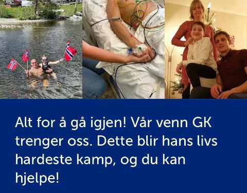 KRONERULLING: Den norske MMA-stjernen Emil Weber Meek har startet en innsamlingsaksjon til inntekt for kameraten og treningsmakkeren Geir Kåre Cemsoylu Nyland.