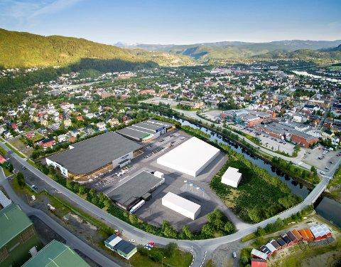 VOLUM: Slik ser Helgeland Handelspark AS for seg veveritomta når den er ferdig bygget ut.