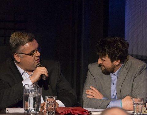 TEMPERATUR: Journalist Kjetil Stormark og forsker Lars Rowe i en heftig disputt om begrepet «hybridkrig».