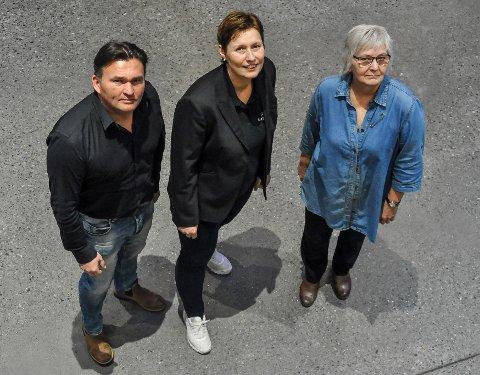 Kulturtrøkk: Frode Sollie, Linda Hassfjord og Marit Bornø gleder seg til uka som kommer.